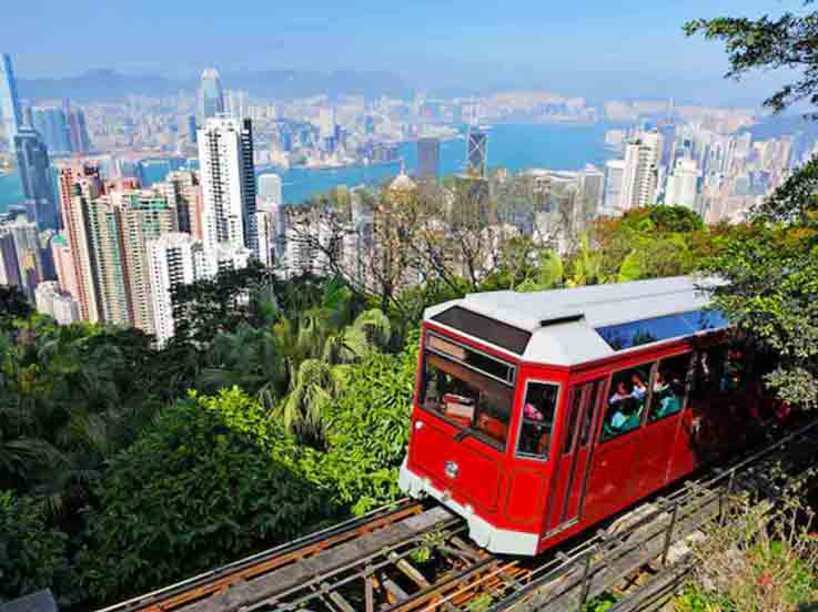 Ideal Time to Visit Hong Kong and enjoy the peak tram overlooking the skyline